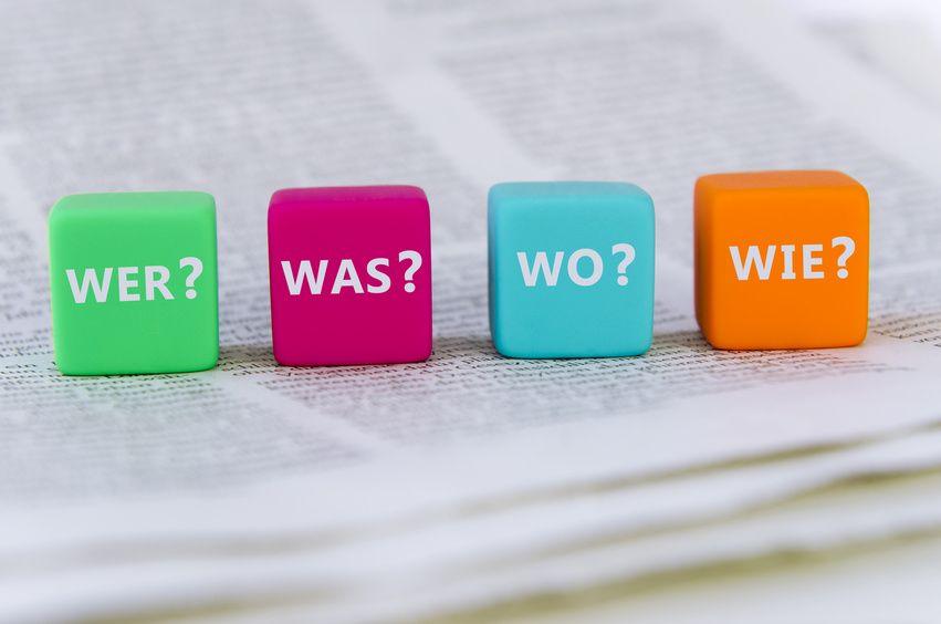Eine Pressemitteilung muss alle wichtigen W-Fragen beantworten.